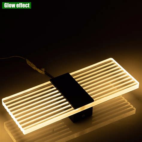 huaxinv led wall light 6w square warm white bedroom bedside light modern style decorative