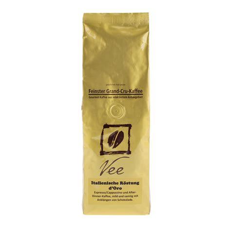 italienischer kaffee für vollautomaten vee kaffee italienische r 246 stung d oro 500g bohnen