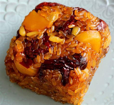 sweetened rice  dried fruits  nuts yaksik recipe