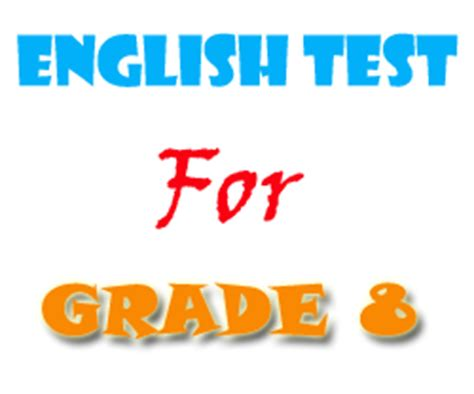english tests  exercises  grade