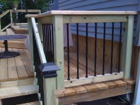 outdoor garden simple wooden deck railing ideas