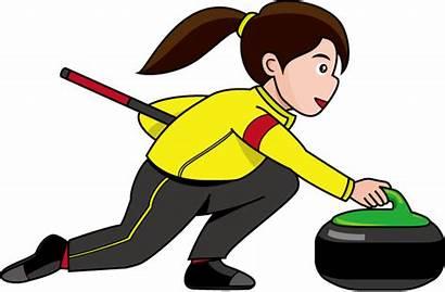 Curling Clipart Sport Bonspiel Fang Thaw Clip