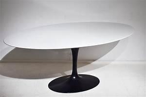 Saarinen tulip tisch ovaler platte 198cm knoll for Tulip tisch
