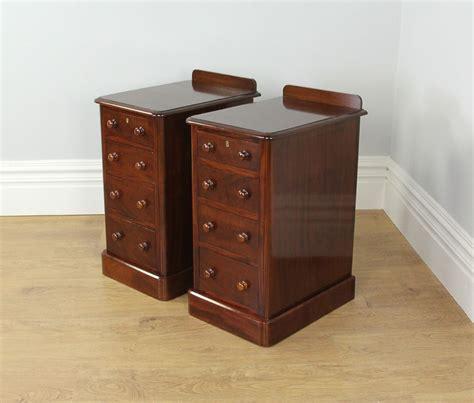 mahogany bedside cabinets pair of mahogany bedside chests tables circa 3942