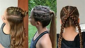 3 Peinados Deportivos con trenzas 💜 Sporty Hairstyles 💚 Belleza sin Limites YouTube