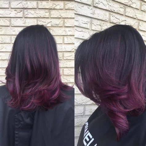 ombre hair violet ne ratez pas cette tendance qui