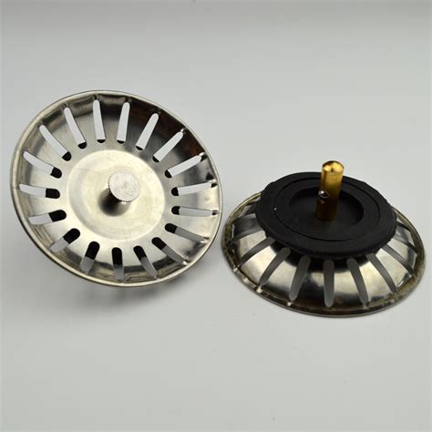 bouchon d evier cuisine évier de cuisine en acier inoxydable un bouchon de puits