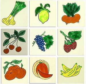 fruits and vegetables ceramic mexican tile collection With kitchen tiles with fruit design