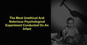 """The """"Little Albert Experiment"""", The Most Unethical ..."""