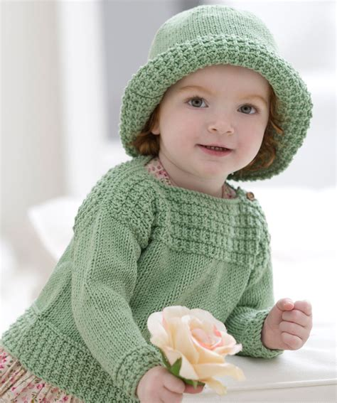 baby sweaters to knit baby boat neck sweater and sun hat knitting pattern