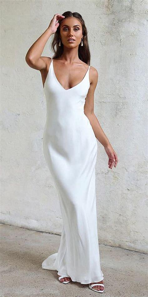 24 Excellent And Elegant Silk Wedding Dresses  Pinterest