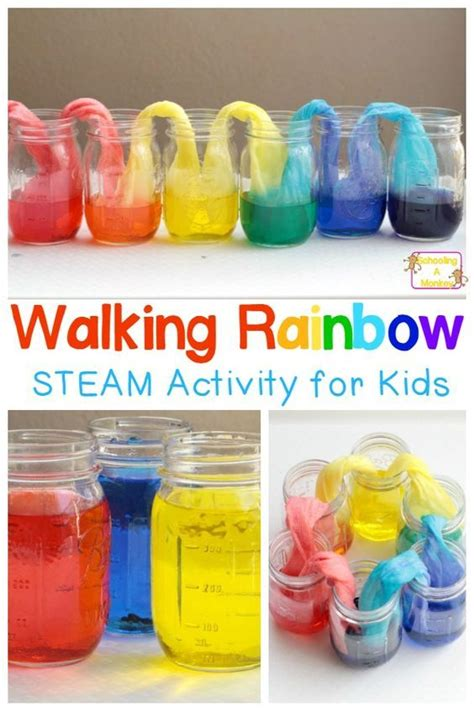 easy and walking rainbow science experiment science 741 | 4a4711a0a9258f6afa59c7f4ab89d22a