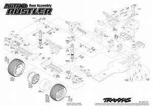 Cars  U0026 Trucks - Replacement Parts - Traxxas Parts - Nitro - Nitro Rustler