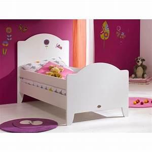 Lit enfant 90 x 190 calypso blanc lit enfant chambre for Deco chambre enfant avec ame matelas latex