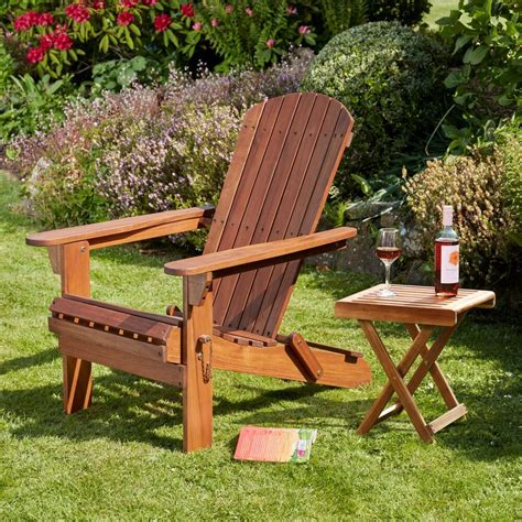Garden Furniture Chairs by Adirondack Garden Chair Table Footrest Seats Outdoor Patio