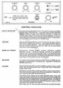 Rogers Rd Cadet Mk 3 Stereo Amplifier Circuit Diagram And