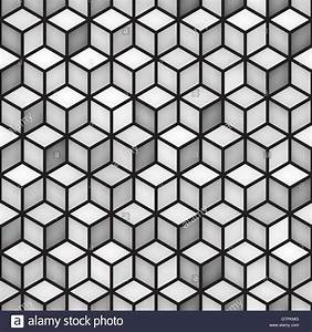 Vector Seamless Cube Shape Rhombus Grid Geometric Pattern ...