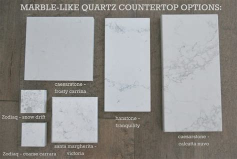 quartz countertops that look like carrara marble kitchen countertop options quartz that look like marble
