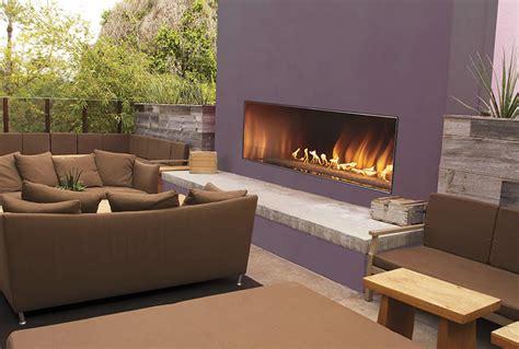"Carol Rose 48"" Outdoor Linear Fireplace  Fine's Gas"