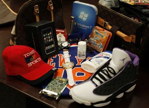 top   counterfeited products  america