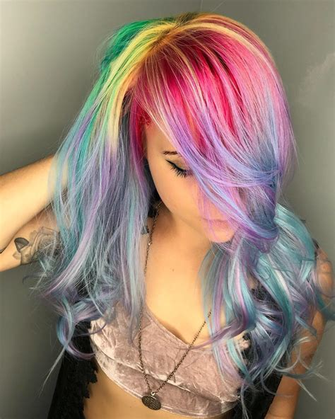 32 Rainbow Hairstyles For A More Adventurous Look