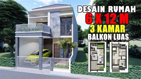 desain rumah    lantai  kamar tidur  balkon