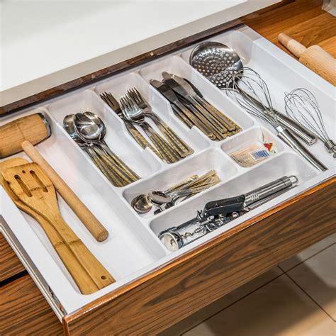 kitchen cutlery drawer organizers white cutlery tray box insert cabinet w 30 90cm kitchen 4371