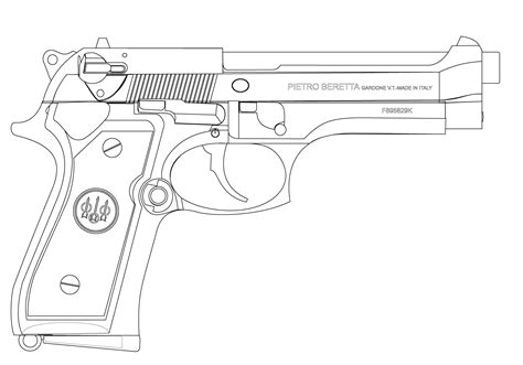 pistol coloring pages    print