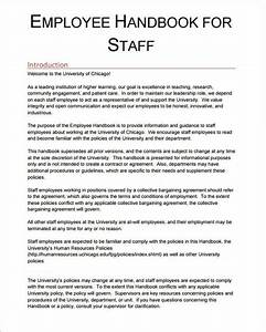 Free 5  Sample Printable Employee Handbook Templates In