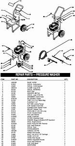 Generac Pressure Washer Model 1038 Replacement Parts  Pump