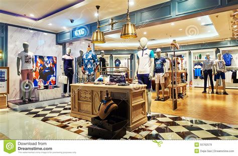 maen interieur men fashion clothes store clothing shop editorial stock