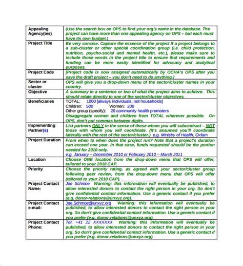 sample project sheet templates  google docs ms