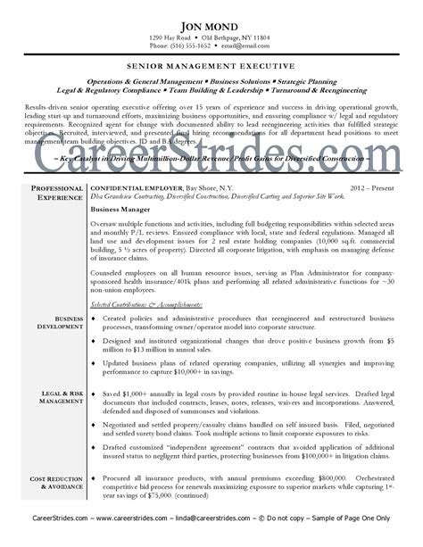 Fundraising Resume Qualifications by Review Resume Sles In A Wide Range Of Careers