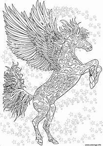 Puzzle Gratuit En Ligne Pour Adulte : coloriage cheval adulte licorne ailes antistress etoiles ~ Dailycaller-alerts.com Idées de Décoration