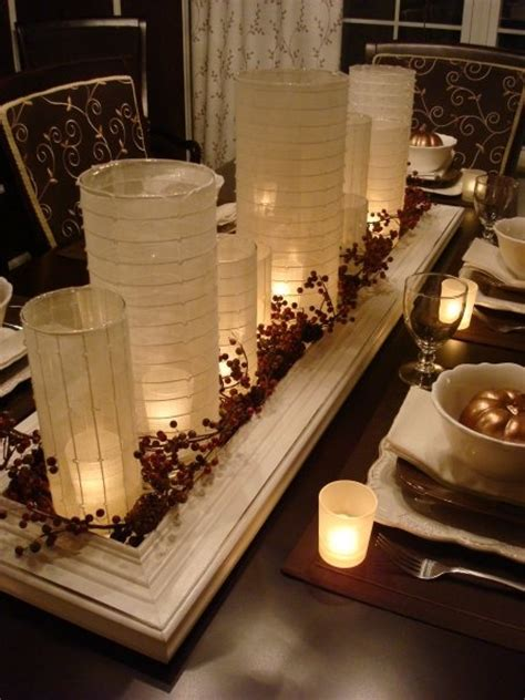 candle centerpieces for dining room table pin by amanda deware on table centerpieces and tablescapes