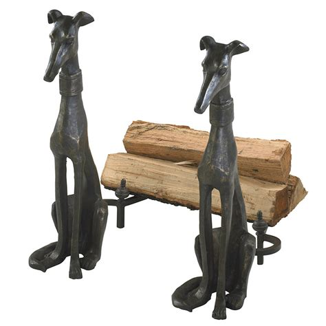greyhound andirons moss manor  design house