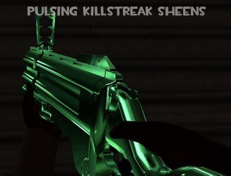 pulsing killstreak sheens team fortress  skins