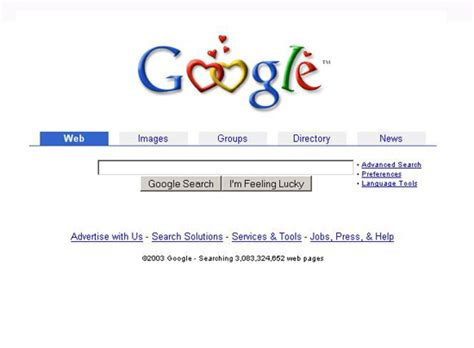google search engine appearance