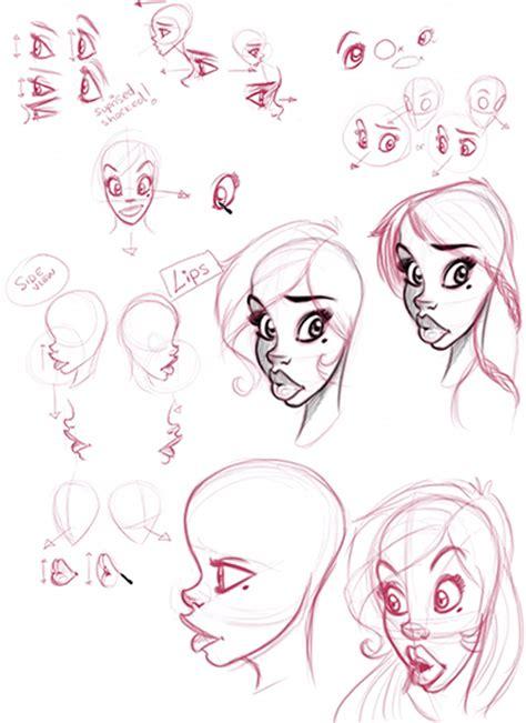 draw illustration female cartoon characters step