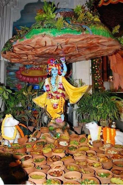 lord krishna lifting goverdhan parvat idol