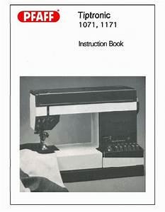Pfaff Tiptronic 1071 1171 Instruction Or Service    Repair