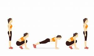 Exercise Guide With Woman Doing The Squat Thrust Position