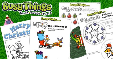 christmas activities  kids  activity pack busy