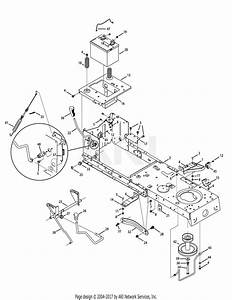 Mtd 13ac76lf058  2012   M12538  2012  Parts Diagram For Frame  U0026 Pto Lift