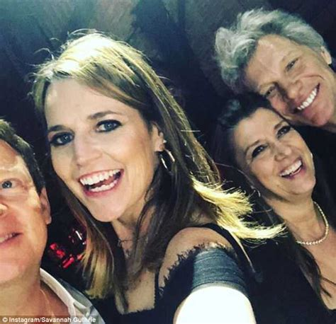 Savannah Guthrie Parties With Jon Bon Jovi Rock Roll
