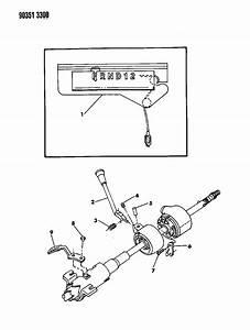 1991 Dodge Dakota Controls  Gearshift  Steering Column Shift