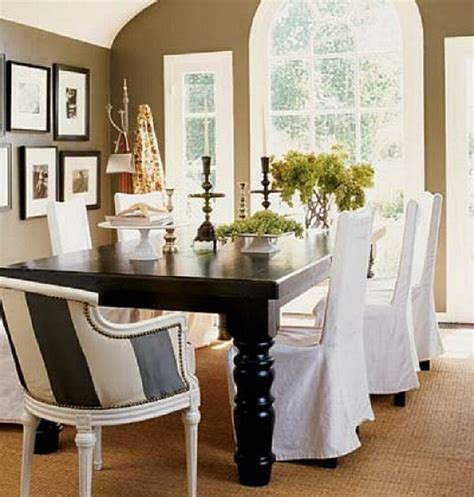 white dining room chair covers images