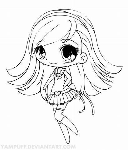 Coloring Chibi Yampuff Pages Anime Deviantart Chibis