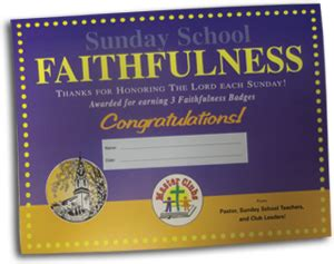 This Certificate Certifies The Completion Of Sunday School Sunday School Faithfulness Award Certificate Children S
