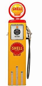 Pompe A Essence : pompe essence shell couleur jaune vintage petrol pumps ~ Dallasstarsshop.com Idées de Décoration